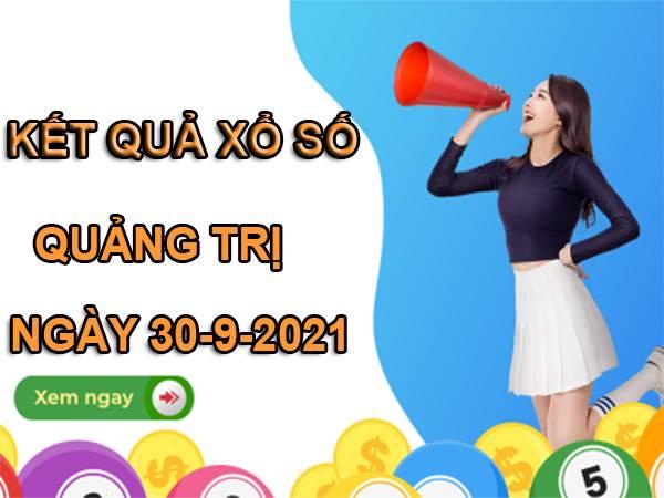 Soi cầu xổ số Quảng Trị 30/9/2021 hôm nay thứ 5